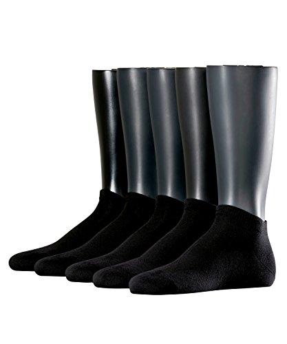 ESPRIT Herren Solid Sneakersocken, Schwarz (black 3000), 40/46 (erPack 5
