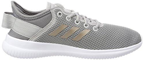 Adidas Cloudfoam Qt Flex, Sneaker Donna Grigio (gris Deux / Vapeur Gris Métallique / Gris Trois)