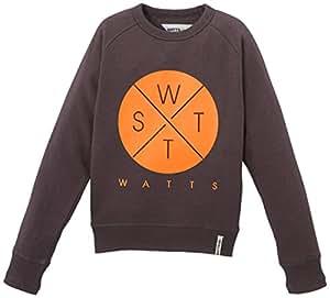 WATTS Glato Sweat-shirt col rond Garçon Gris Anthracite FR : 12 ans (Taille Fabricant : 12 ans)