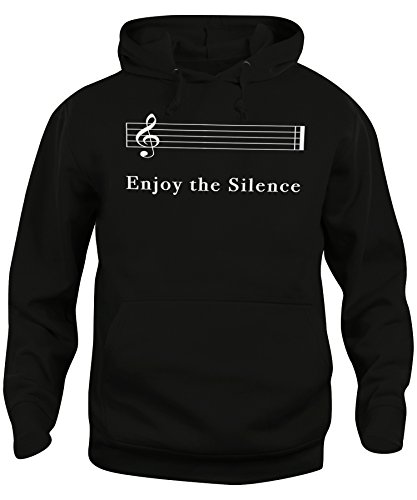 Felpa cappuccio Unisex ENJOY THE SILENCE - MUSICA - iMage Nera