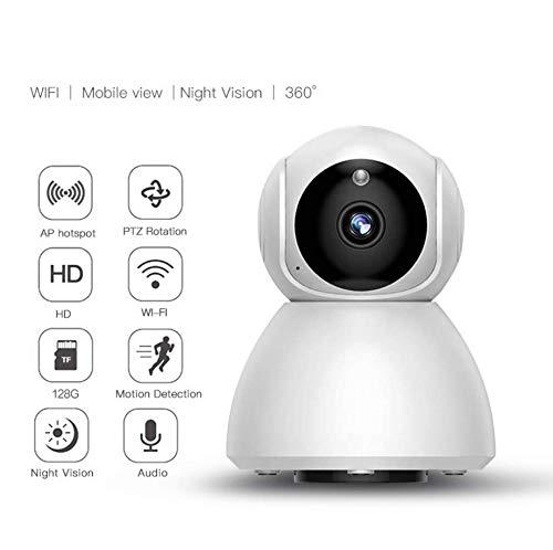 360°Überwachungskamera 1080P Haustier Kamera WiFi Home Security System für Büro/Babyphone, 2,4 GHz PTZ Indoor IP Wireless Dome-Kamera mit Nachtsicht, Zwei-Wege-Audio, Cloud-Service zur Verfügung (Security-systeme Wireless)