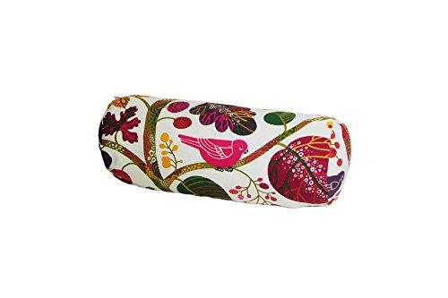beties Zauberwald Nackenrollen Bezug ca. 15x40 cm in interessanter Größenauswahl hochwertig & angenehm 100% Baumwolle Farbe (Elfenbein-bunt) -