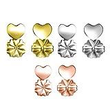 3 Pares de levantadores de Pendientes Pendientes respaldos Pendientes hipoalergénico Levanta Oro + Plata + Oro Rosa