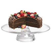 Lakeland & Mary Berry Acrylic Cake Stand, 33cm - Clear