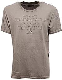 5527V maglia uomo RUDE RIDERS VINTAGE EFFECT grey delave' t-shirt men