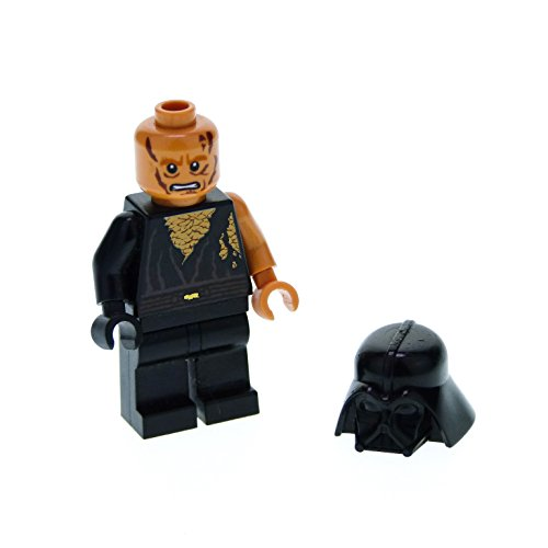 Episode 1 Star Lego Wars-sets (1 x Lego System Figur Star Wars Episode 3 Anakin Skywalker Torso schwarz Battle Damaged Narben Darth Vader Helm für Set 8096 sw283)