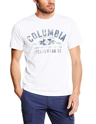 Columbia Herren CSC EU Round Bend Tee Weiß - weiß