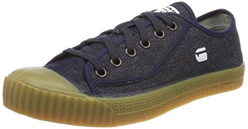 G STAR RAW Herren Rovulc Denim Low Sneakers Sneaker, Blau (Blue (Dk Navy 881), 44 EU