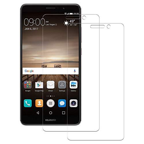 FayTun Verre Trempé pour Huawei Mate 9, Protection Écran, Anti-Rayures, Anti-Fingerprint, Dureté 9H, Crystal Clear sans Bulles Film pour Huawei Mate 9, 2 Pièces