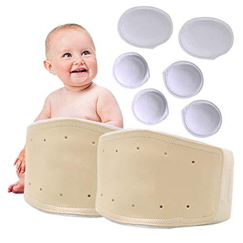 Baby Bauchnabel Hernie Gürtel 2 Sätze, einstellbare Unterstützung Wrap Abdominal Hernied Binder, für Säuglinge und Neugeborene Nabelband,B