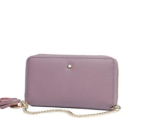 Sezione Lunga Bit Multi-card Di Miss Qian Jia Sacchetto Di Frizione Della Carta Di Credito Del Pacchetto Del Telefono Del Raccoglitore Borsa Zero Purple
