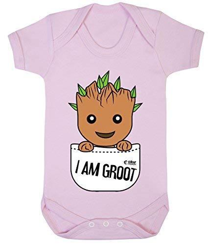 Kostüm Superheld Rosa - Colour Fashion Groot Im Tasche Superheld Lustig Kostüm Baby Body 100% Cotton 0-24 - Rosa, 0-3 Months
