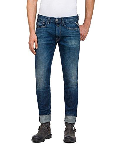 Replay Herren Loose Fit Jeans ROB, Blau (Mid Blue Denim 9), W30/L30