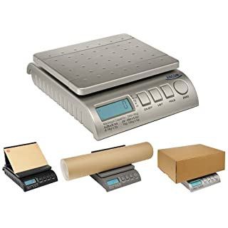 ABCON POSTSHIP Digital 40kg 88lb Silver Letter Postal/Postage/Parcel/Shipping/Packet/Weighing Scales Scale - 0-5kg/5g 5-40kg/10g - Worlds Most Advanced Scale