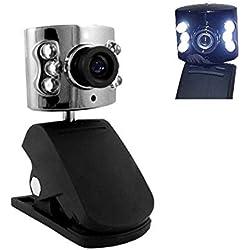 WD108 GiXa Technology HD USB Webcam mit Mikrofon Mini Kamera für Chat Konferenz für PC / Notebook / Netbook / Laptop / Web Cam für Skype MSN AOL Yahoo Internet Chat Klemmfuß und Stellfuß oder Tischstativ