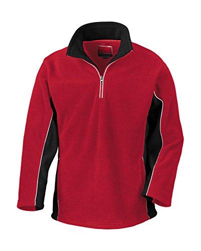 Result - Tech3 Sport Fleece 1/4 Zip Sweater L,Red/Black - 1/4 Zip Outdoor Fleece