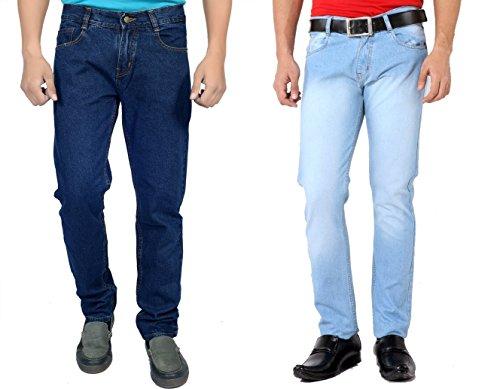 Karya Men's 603_604 Regular Fit Jeans 603DKBLUE-604LTBLUE-COMBO_Dark Blue_Light Blue_34