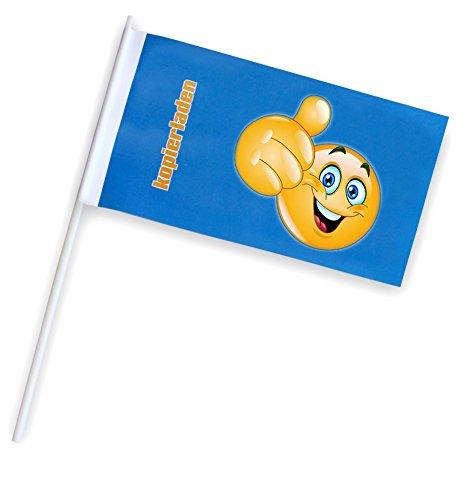Papierfähnchen/Werbefähnchen mit eigenem Foto, Logo oder Motiv, Fähnchen selbst gestalten inkl. Druck, ca. 250 x 120 mm, 25 Stück