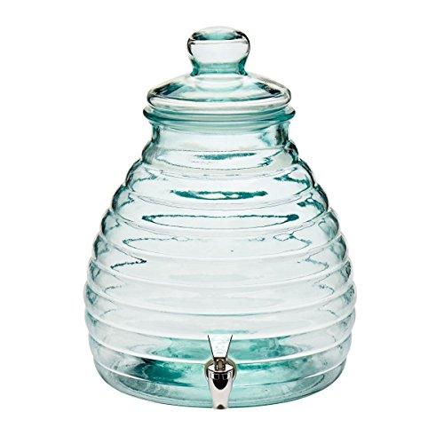 Dispensador de bebidas jarra, con grifo, para bebidas calientes, vidrio, transparente, 11 litros