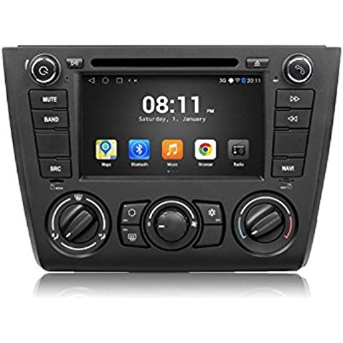 GOWE Android 4.4.4Quad Core 7pulgadas de navegación GPS coche reproductor de DVD para BMW E87Serie 11181202008–12A/C con