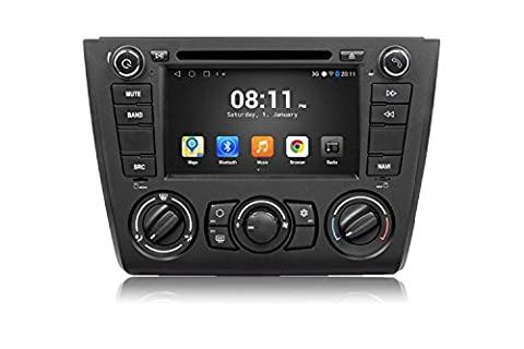 Gowe Android 4.4.4Quad Core GPS Navigation 17,8cm Lecteur DVD de voiture pour BMW E87série 11181202008–12A/C avec Bluetooth/RDS/Canbus/SWC