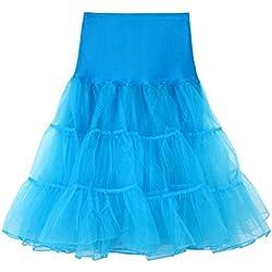 Tutu Dancing Jupe, Tefamore Femmes Courte Plissée de Haute qualité pour Adulte (XL, Bleu Ciel -1)