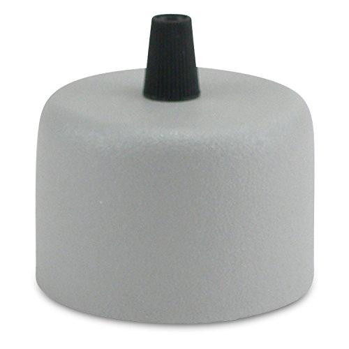 Lampen Baldachin in Metall grau - Abdeckung für Hängelampen