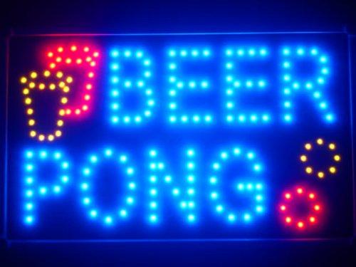 ADV PRO led015-b Beer Pong Bar Pub LED Neon Business Light Sign Barlicht Neonlicht Lichtwerbung