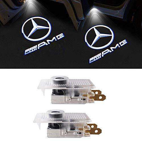 LIKECAR LED Portello Auto Llluminazione Proiettore Porta Lampada Ghost Shadow Luci Benvenute Cortesia (Old E-AMG)