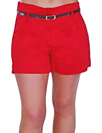 Amazon.co.uk: Red - Shorts / Women: Clothing