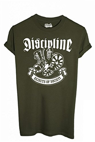 T-Shirt DISCIPLINE REJECTS OF SOCIETY - FILM by iMage Dress Your Style - Uomo-S-VERDE MILITARE