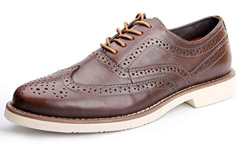 SimpleC Herren Klassische Schnürenkel Niedriger Absatz Knöchel Oxford Schuhe Bl42