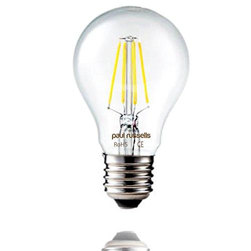 3x Russel Paul Vintage Stil Edison Schraube LED Filament Leuchtmittel 6W GLS Antik Globe A60Licht Dekorieren Home 360Beam Lampe E27ES 6500K Tag Licht 60W Glühlampe Ersatz [3Stück Leuchtmittel] (Antike Leuchtmittel Globe)