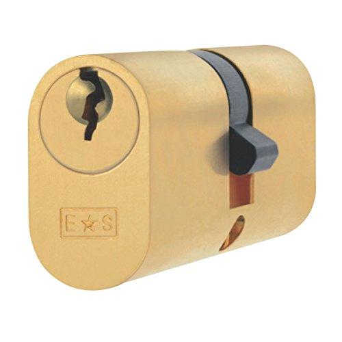 Eurospec gleichschliessend Oval Zylinderschloss 35-35(70mm) Messing poliert