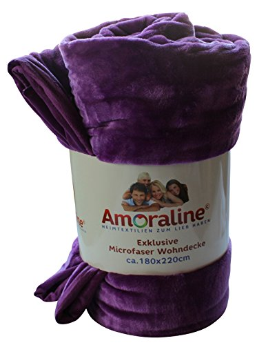 Amoraline® Coperta 400gsm taglia: ca. 180x 220cm tinta unita exklusive