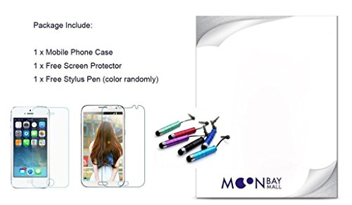 MOONBAY MALL Chic Wallet Case Classic Pour Apple iPhone SE / iPhone 5SE / iPhone 5E PU Cuir Étuis Flip Cover housse, Stylus et Film protecteur inclus. A29 A44