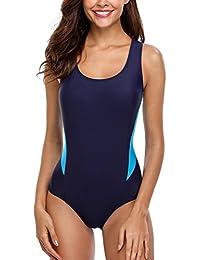 CharmLeaks Damen Einteiliger Sport Badeanzug Essential Endurance Schwimmanzug Basic