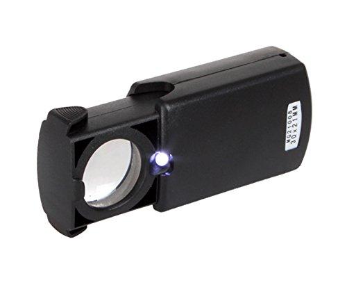 Lupa de Ojo Monoculo con Luz Led 30x21mm AUMENTOS Relojero Sellos Monedas 2363