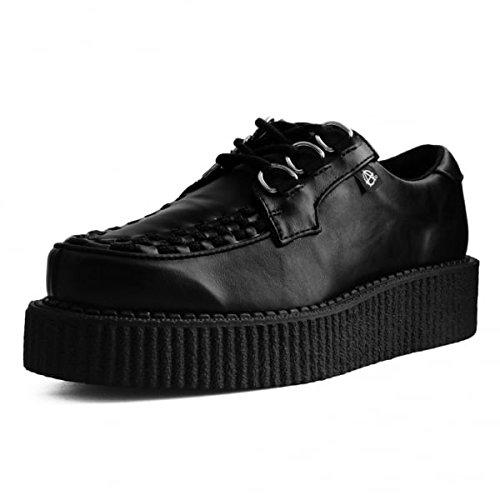 buy popular 14ad2 3b237 De Piel Sintética Negro 3 Anillo Anárquica La Enredadera De La Mujer De  T.U.K. Shoes Los