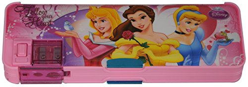 Disney Princess Pencil Box, Multi-functional with Sharpener