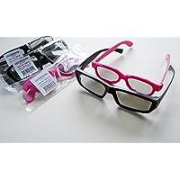 """z 3 STK passive Designer 3D-Polfilterbrille B zirkular polarisiert // 3-D-Brille f/ür 3D-TV Fernseher mit passiver 3D-Polarisations-Technik Modell /""""X-Gen/"""" f/ür LG /""""Cinema 3D/"""" und viele andere 3DTV-Ger/äte // kompati"""