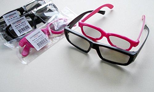 Familien-Set: 5 Stück passive 3D-Polfilterbrillen: 3x Modell 'Nerd' + 2x Modell 'kid' Kinderbrille...
