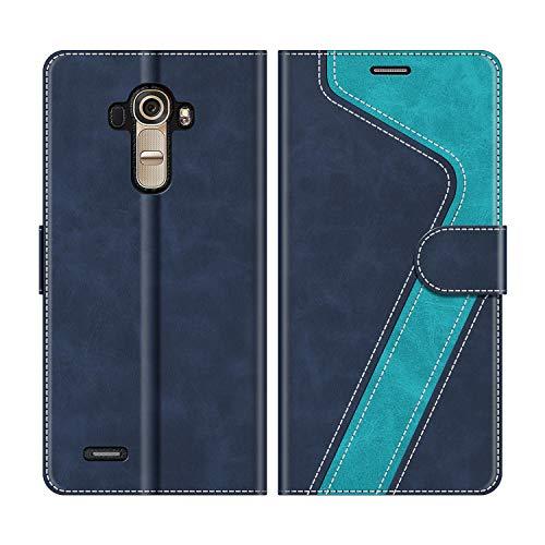 MOBESV Handyhülle für LG G4 Hülle Leder, LG G4 Klapphülle Handytasche Case für LG G4 Handy Hüllen, Modisch Blau