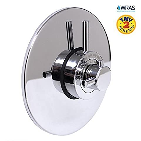Modern Concealed Concentric Solid Brass Dual Thermostatic Bathroom Shower Mixer