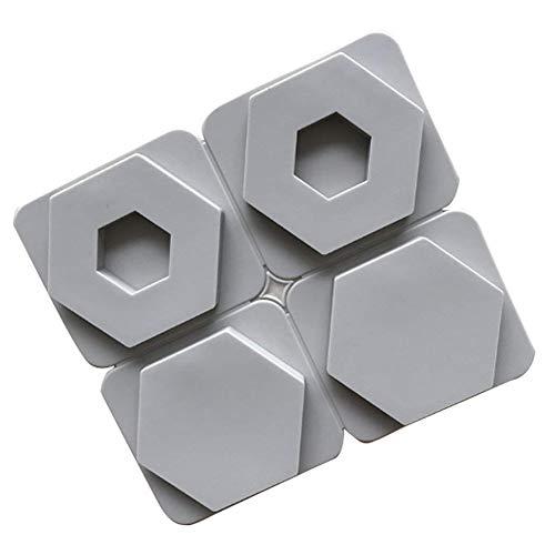 XiangChengShiDing Hexagon Silikon Kuchen Formen 4 Hohlraum 3D Hexagon Form Fondant Dekoration Werkzeuge Seife Kerze EIS Schokoladenform DIY Backen Werkzeug (1pc)