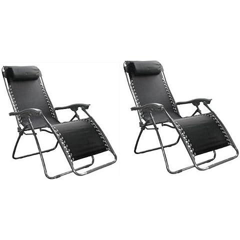 Set di 2 diverse posizione Zero Gravity a sdraio in textilene sedia sdraio da giardino Sedia a sdraio letto