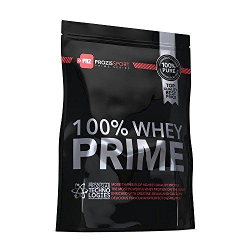 Prozis 100% Whey Prime 2.0 1250g - Concentrato di proteine di qualità in polvere - Gusto neutro - 21g of whey per dose - Arricchito con creatina, BCAA, taurina e L-glutammina - 50 dosi!