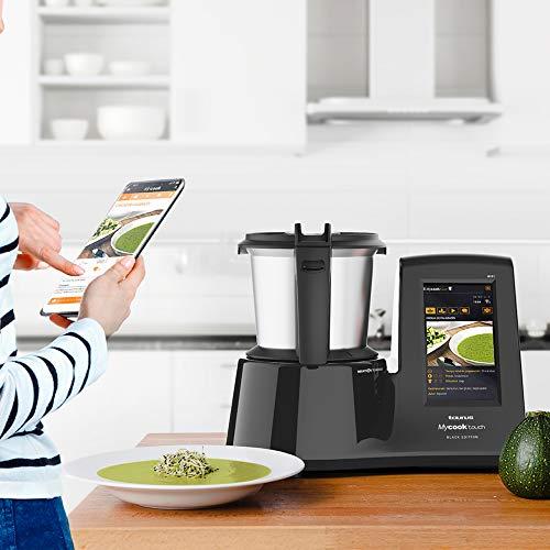 Taurus Mycook Touch Black Edition - Robot de cocina inteligente multifunción, conexión WIFI multidispositivo, pantalla táctil 7'', cocina por inducción hasta 140ºC, recetas gratis e ilimitadas 1600 W