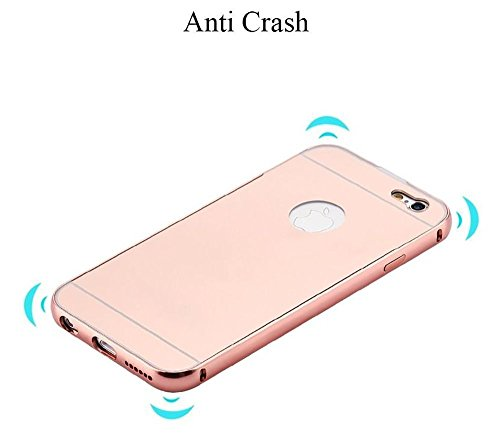 iPhone 6Coque de Luxe en Aluminium Ultra Slim Ultra Slim étui En Métal de haute qualité, argent, 139.1x67x6.9mm Gunmetal