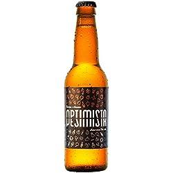 Cerveza artesanal Optimista/Pesimista de La Lenta (12 botellas de 33 cl)